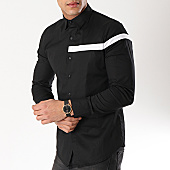 /achat-chemises-manches-longues/frilivin-chemise-manches-longues-avec-bande-bm1067-noir-blanc-170201.html