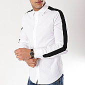 /achat-chemises-manches-longues/frilivin-chemise-manches-longues-avec-bandes-bm1069-blanc-noir-170256.html