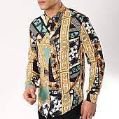 /achat-chemises-manches-longues/frilivin-chemise-manches-longues-68284-noir-vert-renaissance-170298.html