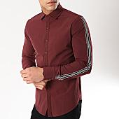 /achat-chemises-manches-longues/frilivin-chemise-manches-longues-avec-bandes-bm1071-bordeaux-170309.html
