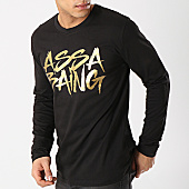 /achat-t-shirts-manches-longues/landy-tee-shirt-manches-longues-assa-baing-noir-or-170100.html