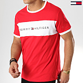 /achat-t-shirts/tommy-hilfiger-jeans-tee-shirt-logo-flag-1170-rouge-blanc-170056.html