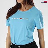 /achat-t-shirts/tommy-hilfiger-jeans-tee-shirt-femme-clean-boxy-logo-5455-bleu-clair-170068.html