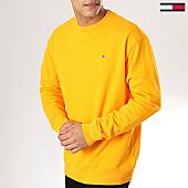 /achat-sweats-col-rond-crewneck/tommy-hilfiger-jeans-sweat-crewneck-classics-5496-jaune-170138.html