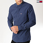 /achat-chemises-manches-longues/tommy-jeans-chemise-manches-longues-solid-poplin-5991-bleu-marine-170139.html