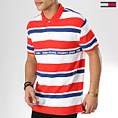 /achat-polos-manches-courtes/tommy-hilfiger-jeans-polo-manches-courtes-multi-stripes-6023-rouge-blanc-bleu-marine-170141.html