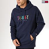 /achat-sweats-capuche/tommy-hilfiger-jeans-sweat-capuche-graphic-6105-bleu-marine-170152.html