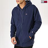 /achat-sweats-zippes-capuche/tommy-hilfiger-jeans-sweat-zippe-capuche-classics-6107-bleu-marine-170154.html