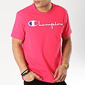 /achat-t-shirts/champion-tee-shirt-script-logo-210972-rose-170490.html