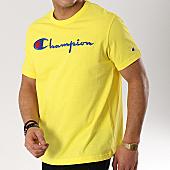 /achat-t-shirts/champion-tee-shirt-script-logo-210972-jaune-170493.html