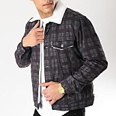 /achat-vestes/classic-series-veste-col-mouton-a-carreaux-6459-gris-blanc-170363.html
