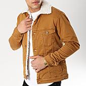 /achat-vestes-jean/classic-series-veste-jean-col-mouton-6486-camel-ecru-170384.html