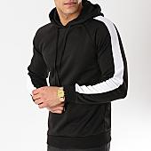 /achat-sweats-capuche/frilivin-sweat-capuche-avec-bandes-6079-noir-blanc-170317.html