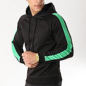/achat-sweats-capuche/frilivin-sweat-capuche-avec-bandes-6079-noir-vert-170318.html