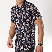 /achat-chemises-manches-courtes/frilivin-chemise-manches-courtes-bm1043-bleu-marine-floral-170321.html