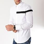 /achat-chemises-manches-longues/frilivin-chemise-manches-longues-avec-bande-bm1067-blanc-noir-170327.html