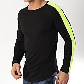 /achat-t-shirts-manches-longues/frilivin-tee-shirt-manches-longues-oversize-avec-bandes-6674-noir-jaune-fluo-170332.html