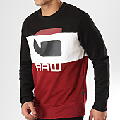 /achat-sweats-col-rond-crewneck/g-star-sweat-crewneck-graphic-17-d12387-b161-bordeaux-blanc-noir-170522.html