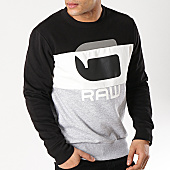 /achat-sweats-col-rond-crewneck/g-star-sweat-crewneck-graphic-17-d12387-b161-gris-chine-noir-blanc-170527.html