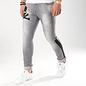 /achat-jeans/ikao-jean-slim-a-bandes-1136-gris-noir-170437.html
