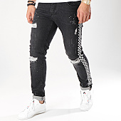 /achat-jeans/ikao-jean-slim-a-bandes-1209-noir-blanc-170451.html