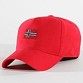 /achat-casquettes-de-baseball/napapijri-casquette-flag-staff-n0yiher-rouge-170408.html