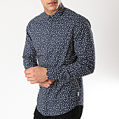 /achat-chemises-manches-longues/only-and-sons-chemise-manches-longues-floral-todd-bleu-marine-170361.html