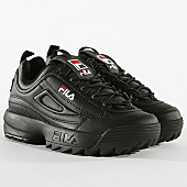 /achat-baskets-basses/fila-baskets-femme-disruptor-low-1010302-12v-black-170692.html