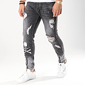 /achat-jeans/ikao-jean-slim-a-bandes-1827-6-noir-170543.html