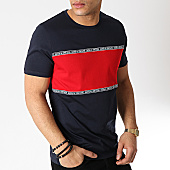 /achat-t-shirts/jack-and-jones-tee-shirt-a-bandes-holdins-bleu-marine-rouge-170544.html