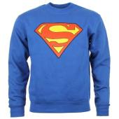 /achat-sweats-col-rond-crewneck/superman-sweat-crewneck-superman-classic-logo-bleu-roi-18515.html