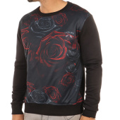 /achat-sweats-col-rond-crewneck/luxury-lovers-sweat-crewneck-all-roses-noir-40913.html