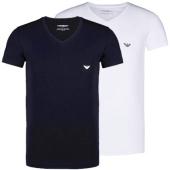 /achat-t-shirts/lot-de-2-tee-shirts-emporio-armani-v-neck-blanc-bleu-marine-49365.html