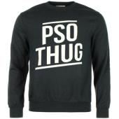 /achat-sweats-col-rond-crewneck/sweat-crewneck-pso-thug-logo-noir-56617.html