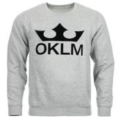 /achat-sweats-col-rond-crewneck/oklm-sweat-crewneck-big-logo-gris-typo-noir-63527.html