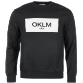 /achat-sweats-col-rond-crewneck/oklm-sweat-crewneck-small-crown-noir-typo-blanc-63531.html