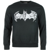 /achat-sweats-col-rond-crewneck/batman-sweat-crewneck-cracked-logo-noir-64028.html