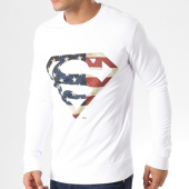 /achat-sweats-col-rond-crewneck/superman-sweat-crewneck-america-logo-blanc-64037.html