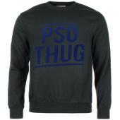 /achat-sweats-col-rond-crewneck/pso-thug-sweat-crewneck-logo-classique-noir-bleu-65095.html