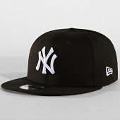 uk availability 17285 86530 New Era - Casquette Snapback MLB 9 Fifty New York Yankees Noir Blanc