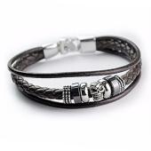 /achat-bracelets/california-jewels-bracelet-leather-skull-marron-75708.html