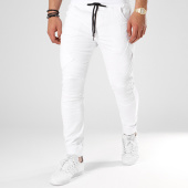 /achat-jogger-pants/john-h-jogger-pant-p6085-blanc-noir-80107.html