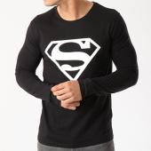 /achat-t-shirts-manches-longues/superman-tee-shirt-manches-longues-logo-noir-85691.html