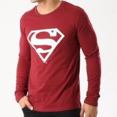 /achat-t-shirts-manches-longues/superman-tee-shirt-manches-longues-logo-bordeaux-85696.html