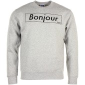 /achat-sweats-col-rond-crewneck/nqnt-sweat-crewneck-bonjour-outline-gris-chine-87089.html