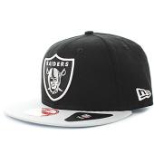 fdf50fee97bf9 New Era - Casquette Snapback NFL Oakland Raiders Block Gris Noir