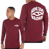 /achat-t-shirts-manches-longues/seine-zoo-tee-shirt-manches-longues-records-bordeaux-logo-blanc-90392.html