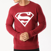 /achat-sweats-col-rond-crewneck/superman-sweat-crewneck-logo-bordeaux-blanc-92490.html