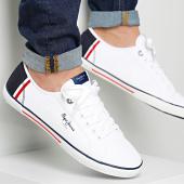 /achat-baskets-basses/pepe-jeans-baskets-aberman-print-pms30354-white-96810.html