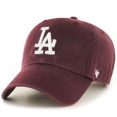 /achat-casquettes-de-baseball/47-brand-casquette-47-clean-up-los-angeles-dodgers-bordeaux-101518.html